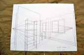 2 point perspective of room