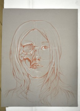 self portrait with skull
