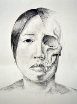 self portrait with skull2