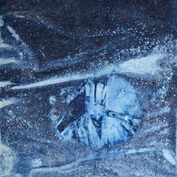 Crystalline Image, salt and pigment, 12 x 18 inches, 2012