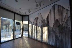 Installation view of Danse Macabre for Gordana, wall drawing, 11 feet tall x 20 feet wide, 2012