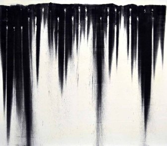 Breathe, charcoal and oil (paint) on canvas, 20 x 30 inches, 2011
