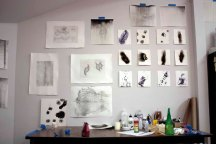 Sketches in studio, 2011