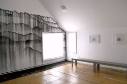 Dispersion, wall installation at 66B Project, March 2014