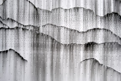 detail of Dispersion, wall installation at 66B Project, March 2014