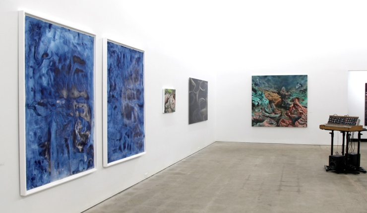 """Frost Garden I & II, installed in """"...Landscape"""" exhibition at dc3 Art Projects, February & March 2014"""