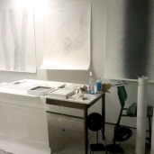 2012 Studio with drawings