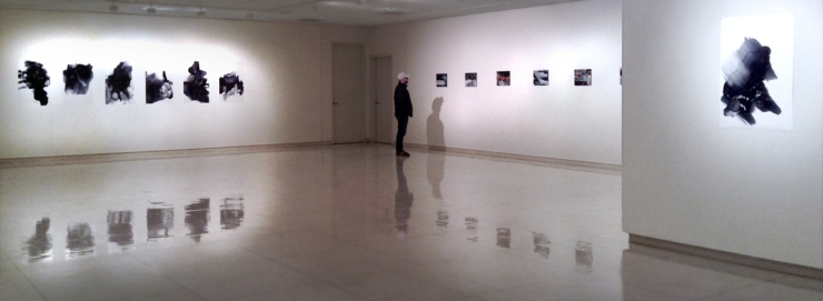 Shadows of the Floating World exhibition installed at EOU