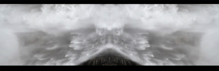 Nika Blasser, Waterfall Palindrome, 2015, digital video 2:21 (loop)