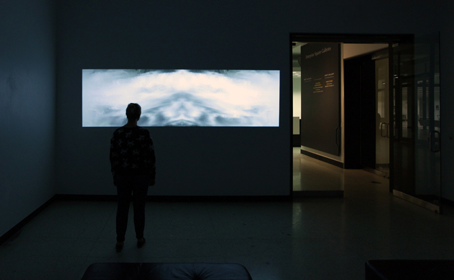 Waterfall Palindrome installation view